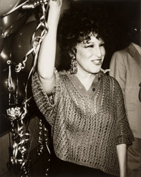 Andy Warhol (American, 1928-1987) Bette Midler at Studio 54, circa 1984 Gelatin silver 10 x 8 inc