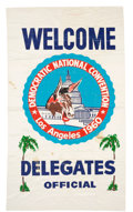 Political:Textile Display (1896-present), [John F. Kennedy]: Large 1960 Democratic National Convention Banner.. ...