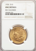 Indian Eagles, 1926 $10 -- Reverse Cleaned -- NGC Details. Unc. NGC Census: (544/40542). PCGS Population: (709/35840). MS60. Mintage 1,014...