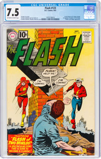 The Flash #123 (DC, 1961) CGC VF- 7.5 Off-white to white pages