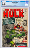 Silver Age (1956-1969):Superhero, The Incredible Hulk #5 (Marvel, 1963) CGC VF- 7.5 Off-white to white pages....