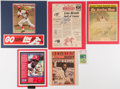 Autographs:Others, Lou Brock Signed Display Lot of 5. ... (Total: 5 items)