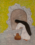 Paintings, Milton Avery (American, 1885-1965). Agua, 1946. Oil on canvas. 36 x 28 inches (91.4 x 71.1 cm). Signed and dated lower l...