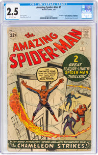 The Amazing Spider-Man #1 (Marvel, 1963) CGC GD+ 2.5 Off-white pages