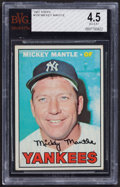 Baseball Cards:Singles (1960-1969), 1967 Topps Mickey Mantle #150 BVG VG-EX+ 4.5....