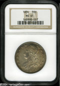 Bust Half Dollars: , 1834 50C Large Date, Small Letters MS61 NGC....