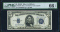 Small Size:Silver Certificates, Fr. 1654 $5 1934D Wide I Silver Certificate. PMG Gem Uncirculated 66 EPQ.. ...