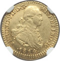 Colombia: Ferdinand VII gold Escudo 1814 NR-JF AU53 NGC