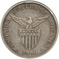 Philippines: USA Administration Peso 1906-S Net VG8 (Chopmarked) ANACS