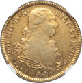 Colombia: Charles IV gold 8 Escudos 1804 P-JF AU53 NGC