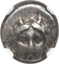 Ancients: CARIA. Idyma. Late 5th-early 4th centuries BC. AR drachm (13mm, 3.60 gm, 6h). NGC VF 4/5 - 4/5