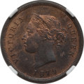 Cyprus:British Colony, Cyprus: British Colony. Victoria 1/4 Piastre 1879 MS63 Red and Brown NGC,...
