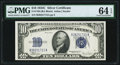 Small Size:Silver Certificates, Fr. 1704 $10 1934C Silver Certificate. PMG Choice Uncirculated 64 EPQ.. ...