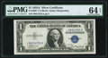 Small Size:Silver Certificates, Fr. 1608* $1 1935A Silver Certificate Star. PMG Choice Uncirculated 64 EPQ.. ...