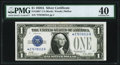 Small Size:Silver Certificates, Fr. 1601* $1 1928A Silver Certificate Star. PMG Extremely Fine 40.. ...