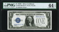 Small Size:Silver Certificates, Fr. 1603 $1 1928C Silver Certificate. B-B Block. PMG Choice Uncirculated 64 EPQ.. ...