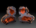 Minerals:Cabinet Specimens, Crater Agate Pair. Chubut Province. Argentina. 5.63 x 4.44 x 1.18 inches (14.31 x 11.27 x 3.00 cm). ... (Total: 2 Items)