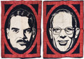 Political:Textile Display (1896-present), Dewey & Warren: Two Large Campaign Banners. Ma...