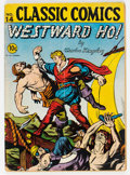 Golden Age (1938-1955):Classics Illustrated, Classic Comics #14 Westward Ho! - First Edition (Gilberton, 1943) Condition: GD+....
