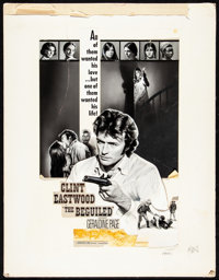 "The Beguiled (Universal, 1971). Fine+. International Black and White Mixed Media Mock-Up on Illustration Board (19""..."