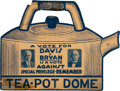 "Political:Small Paper (1896-present), Davis & Bryan: Jugate ""Tea Pot Dome"" Jugate Window Sign.. ..."