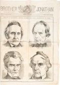 Political:Posters & Broadsides (pre-1896), Henry Clay et al: Oversized Pictorial Newspaper Dated 1848.. ...