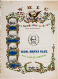 Political:Small Paper (pre-1896), Henry Clay: Possibly Unique Mexican War-Related Sheet Music.. ...