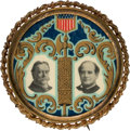 Political:Pinback Buttons (1896-present), William Jennings Bryan and William Howard Taft: Exceptional Fasces & Filigree Bartender's Friend Jugate. . ...
