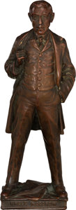 "Political:3D & Other Display (pre-1896), Woodrow Wilson: 12"" High Statuette Captioned ""Uncle Woodrow""...."
