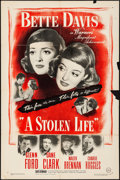 Movie Posters:Drama, A Stolen Life (Warner Brothers, 1946). Folded, Fine+.