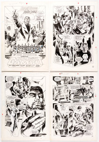E. R. Cruz Captain Thunder and Blue Bolt #8 Complete 26-Page Story Original Art and Color Guides Group of 53 (He... (Tot...