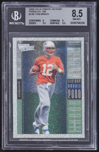 2000 Upper Deck Ultimate Victory Tom Brady #146 Parallel 100 BGS NM-MT+ 8.5 - Numbered 91/100