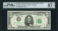 Small Size:Federal Reserve Notes, Fr. 1969-B* $5 1969 Federal Reserve Star Note. PMG Superb Gem Unc 67 EPQ.. ...