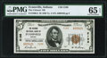 Evansville, IN - $5 1929 Ty. 2 The Citizens National Bank Ch. # 2188 PMG Gem Uncirculated 65 EPQ.</