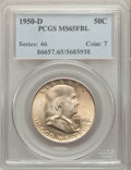 Franklin Half Dollars: , 1950-D 50C MS65 Full Bell Lines PCGS. PCGS Population: (896/99). NGC Census: (240/10). CDN: $175 Whsle. Bid for problem-fre...