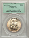 Franklin Half Dollars: , 1960-D 50C MS65 Full Bell Lines PCGS. PCGS Population: (668/46). NGC Census: (129/2). CDN: $270 Whsle. Bid for problem-free...