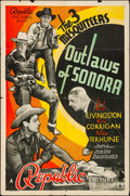 Movie Posters:Western, Outlaws of Sonora & Other Lot (Republic, 1938). Folded, Fi...