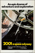 """Movie Posters:Science Fiction, 2001: A Space Odyssey (MGM, R-1980). Folded, Very Fine. One Sheet (27"""" X 41""""). Robert McCall Artwork. Science Fiction.. ..."""