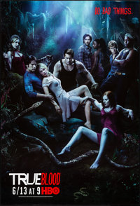 "True Blood (HBO Films, 2010/2009). Rolled, Very Fine+. Television One Sheets (2) (27"" X 40"") SS Advance &..."