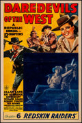 Movie Posters:Serial, Daredevils of the West & Other Lot (Republic, 1943). Good ...