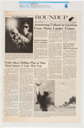 Explorers:Space Exploration, Apollo 11 Training: NASA Houston Manned Spacecraft Center Space News Roundup Newsletter, May 10, 1968, Directly Fr...