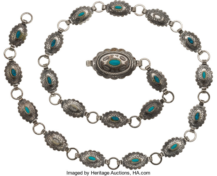 Jewelry Janet Armstrongs Native American Style Fashion Concho Belt From The Armstrong Family CollectionTM CAG Certified