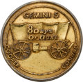 Explorers:Space Exploration, Gemini 5 Flown Gilt over Silver Fliteline Medallion Originally from the Personal Collection of Mission Pilot Charles Conrad, w...