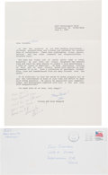Explorers:Space Exploration, Alan and Louise Shepard Typed Letter Signed to Faye Staffo...