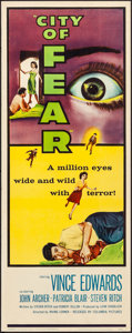 Movie Posters:Thriller, City of Fear & Other Lot (Columbia, 1959). Rolled, Very Fi...