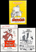 """Movie Posters:Animation, The Aristocats & Other Lot (Buena Vista, 1970). Very Fine. Uncut Pressbooks (2) (Multiple Pages, 11"""" X 15"""") with Ad Suppleme... (Total: 3 Items)"""