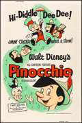 """Movie Posters:Animation, Pinocchio (Buena Vista, R-1962). Rolled, Fine/Very Fine. Silk Screen Poster (40"""" X 60""""). Animation.. ..."""