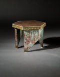 Furniture , Frank Lloyd Wright (American, 1867-1959). Stool from Price Tower, Bartlesville, Oklahoma, 1956. Copper and wood. 15-1/4 ...