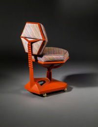 Frank Lloyd Wright (American, 1867-1959) Desk Chair from Price Tower, Bartlesville, Oklahoma, 1956 C