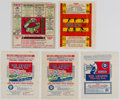 Baseball Cards:Unopened Packs/Display Boxes, 1933-35 Batter-Up, Goudey & Sport Kings Wrapper Collection (5)....
